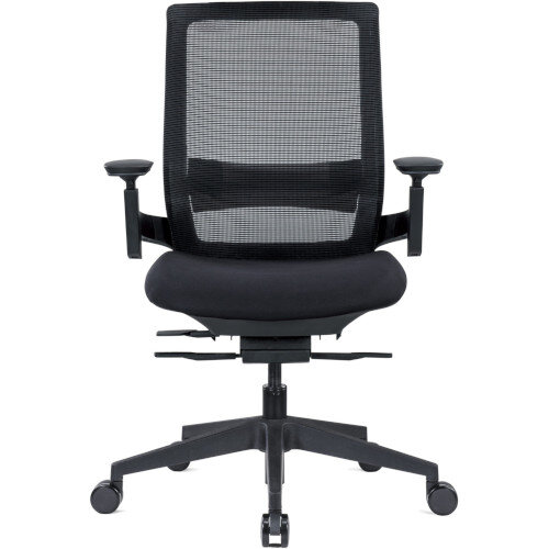 Ergonomic Mesh Office Chair with Adjustable Lumbar Support & Arms Black Additional Image 2