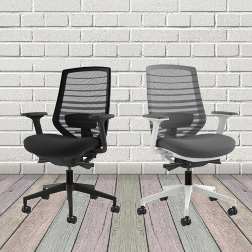 X.77 Office Operator Chair with Mesh Back And Adjustable Lumbar Support Black Additional Image 4