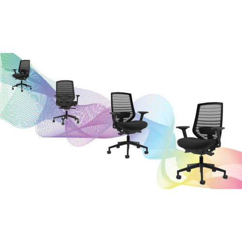 X.77 Office Operator Chair with Mesh Back And Adjustable Lumbar Support Black Additional Image 5