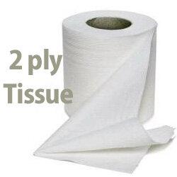 White Box Toilet Tissue 2 Ply