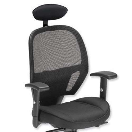 58c3b7915f8 Influx Amaze Mesh Task Operator Office Chair With Headrest Black ...