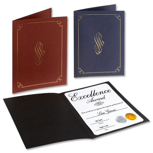 Black Certificate Covers Linen Finish Card 290g Pack 5 Computer ...