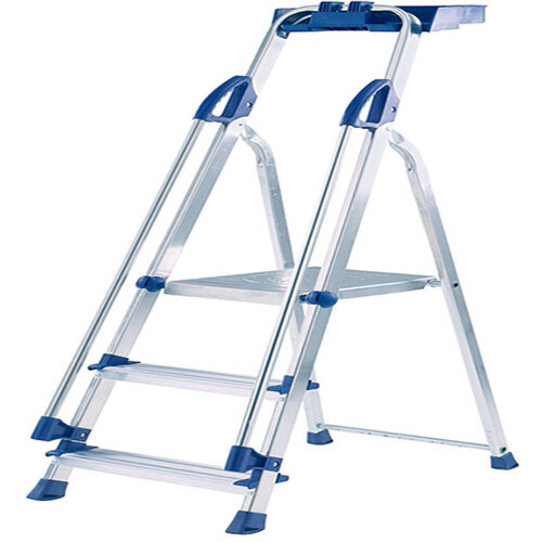 Cool Abru Blue Seal 3 Tread Professional Aluminium Step Ladder Height 0 58M Sliver 10503 Alphanode Cool Chair Designs And Ideas Alphanodeonline