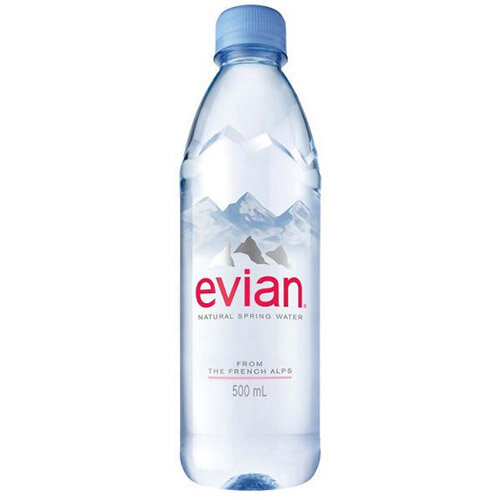Evian Natural Mineral Still Bottled Water 500ml Bottle