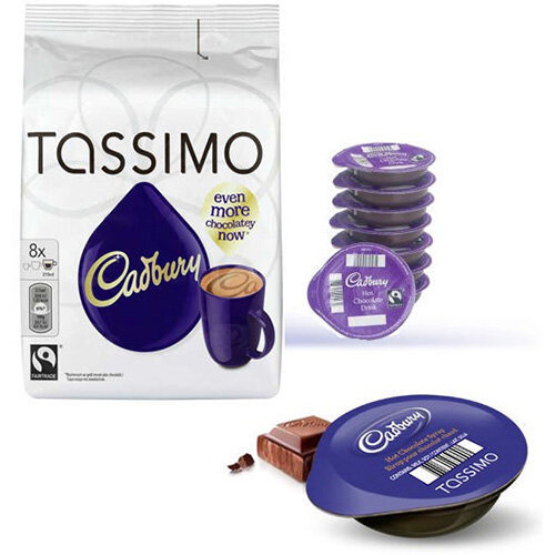 Tassimo T Discs Cadbury Hot Chocolate 8x5 Sleeves Pack Of 40 Capsules Makes 40 Drinks