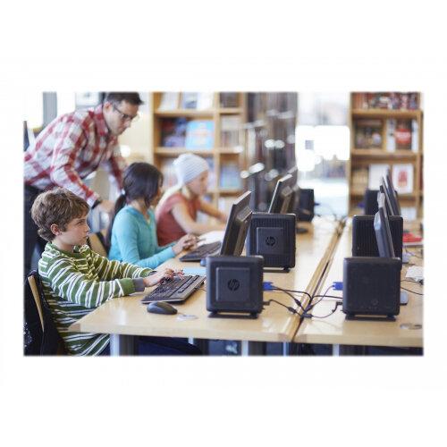 HP Flexible t620 - Thin client - Tower Desktop PC - 1 x GX-415GA 1 5 GHz -  RAM 8 GB - SSD 64 GB - Radeon HD 8330E - GigE - Win 10 IOT Enterprise