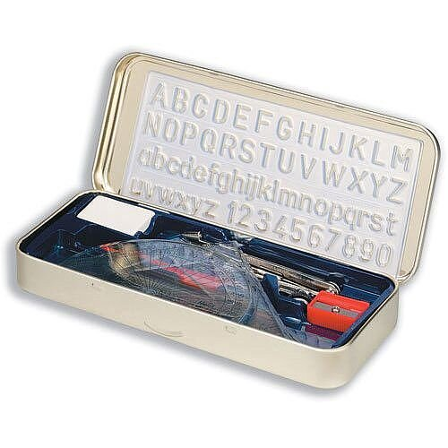 Oxford Maths Rulers Set in Storage Tin