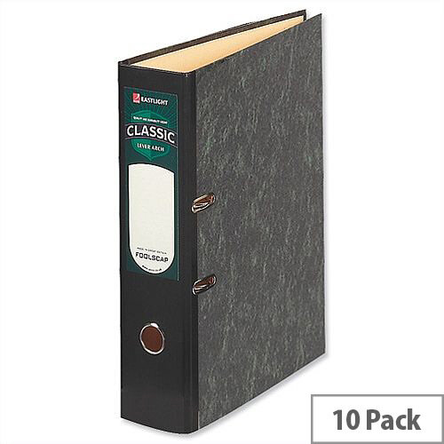 Rexel Classic Foolscap Cloudy Grey Lever Arch File Pack of 10