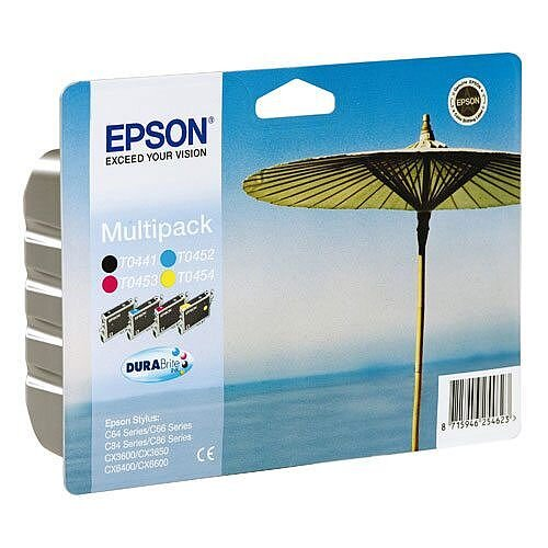 Epson T0445 Multi Pack 4 Colours Ink Cartridge C13T04454010