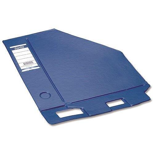 Blue Magazine Rack File Jumbo Plastic A4 110mm Pack 5 Bantex Concept