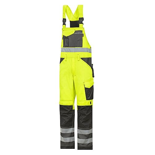 "Snickers 0113 High-Vis Bib &Brace Trousers Class 2 Size 152 36""/6'2"" Hi-Vis Yellow/Black"