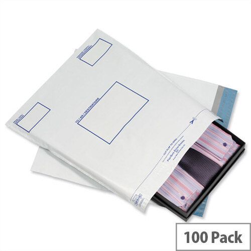 GoSecure Extra Strong 430x400mm Grey Polythene Protective Envelopes Pack of 100