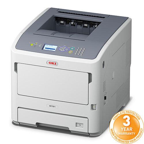 Oki B721dn A4 Mono Laser Printer Network Ready Duplex