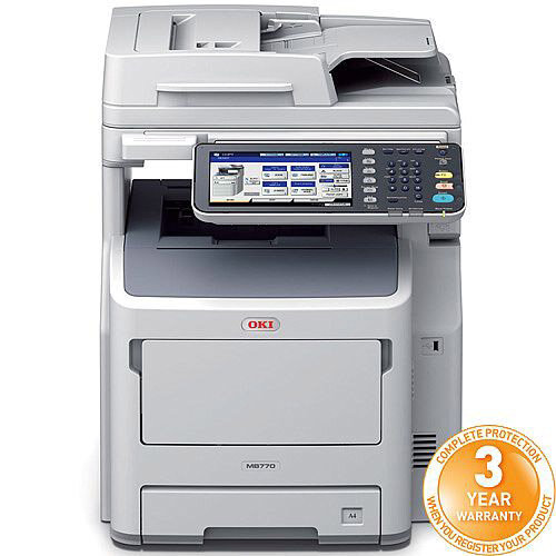 OKI MB770dnfax Mono Multifunction Laser Printer A4 Duplex Network Fax