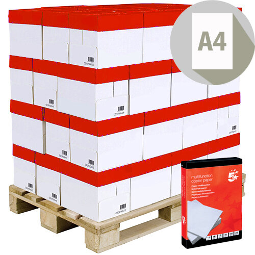 5 Star Office A4 Paper 80gsm Pallet pack 240 x 500 Sheets