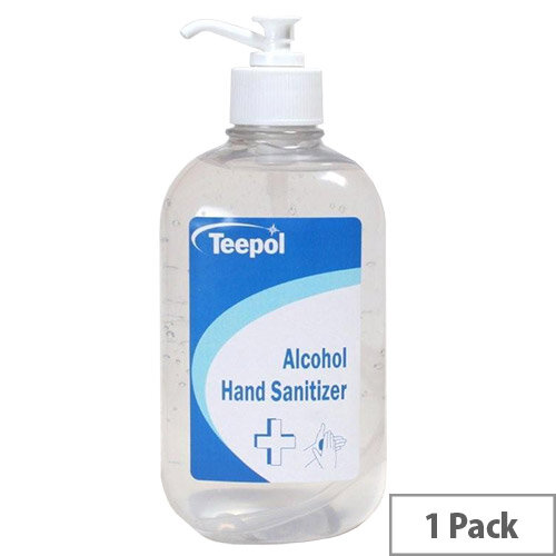Teepol Alcohol Hand Sanitizer 500ml Single