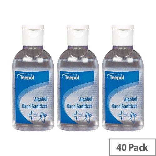 Teepol Alcohol Hand Sanitizer 50ml Case of 40