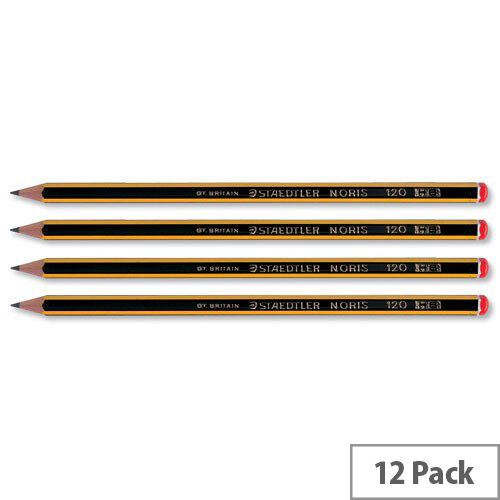 Staedtler HB Noris Pencil Cedar Wood Red Cap Pack 12