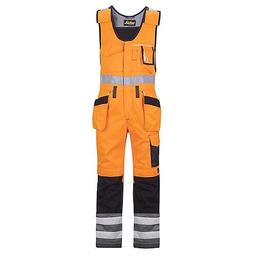 "Snickers 0213 High-Vis One-piece Holster Pocket Trousers Class 2 Size 152 36""/6'2"" Hi-Vis Orange/Black"
