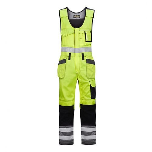 "Snickers 0213 High-Vis One-piece Holster Pocket Trousers Class 2 Size 152 36""/6'2"" Hi-Vis Yellow/Black"