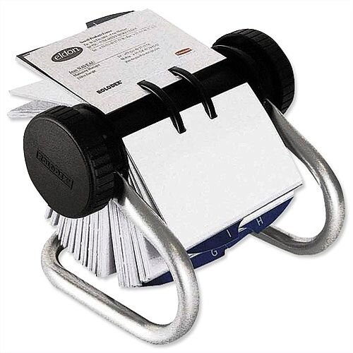 Rolodex Chrome Classic 200 Rotary Business Card Index File 67237