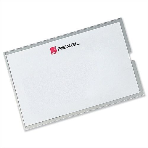 Rexel Card Holder 95x64mm Pack 25