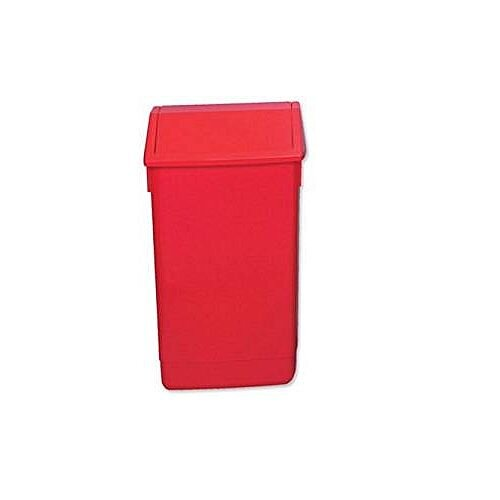 Addis Plastic Flip Top Waste Bin 60 Litres Red
