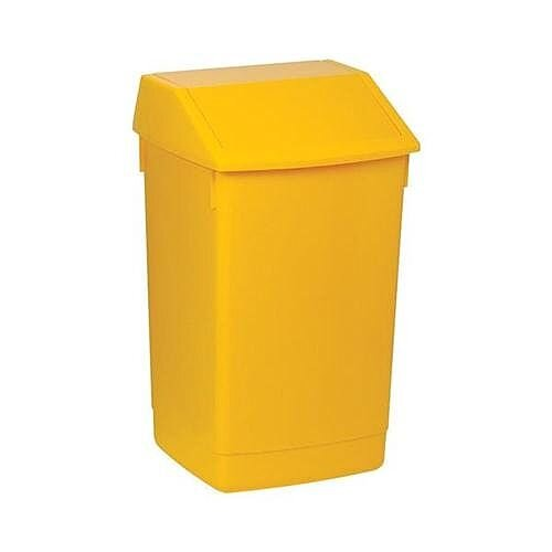 Addis Plastic Flip Top Waste Bin 60 Litres Yellow