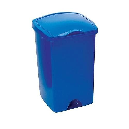 Addis Plastic Lift Up Top Waste Bin 50 Litres Blue 9715