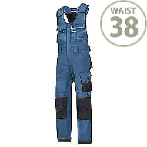 "Snickers 0312 Craftsmen One-piece Trousers DuraTwill Size 154 38""/6'2"" Blue/Black"
