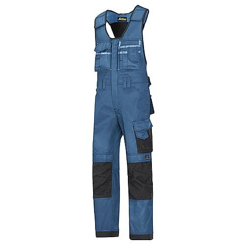 "Snickers 0312 Craftsmen One-piece Trousers DuraTwill Size 160 44""/6'2"" Blue/Black"
