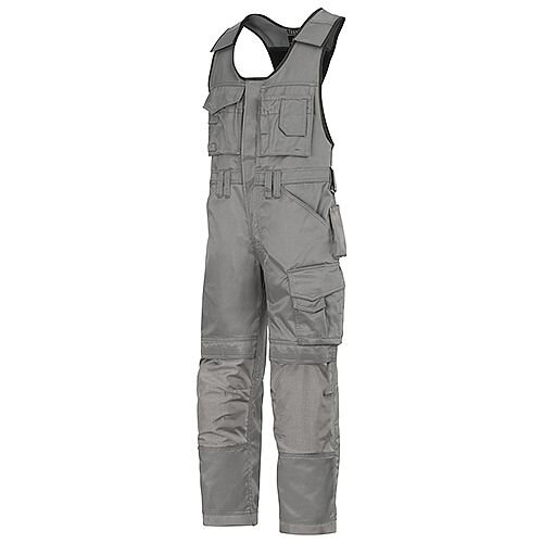 Snickers 0312 Craftsmen One-piece Trousers DuraTwill Grey
