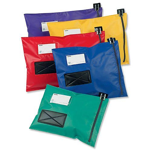 Mailing Pouch Durable 286x336mm Blue PVC Coated Nylon Versapak