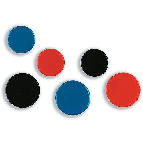 Nobo Black Round Plastic Magnet Diameter 25mm Pack 10