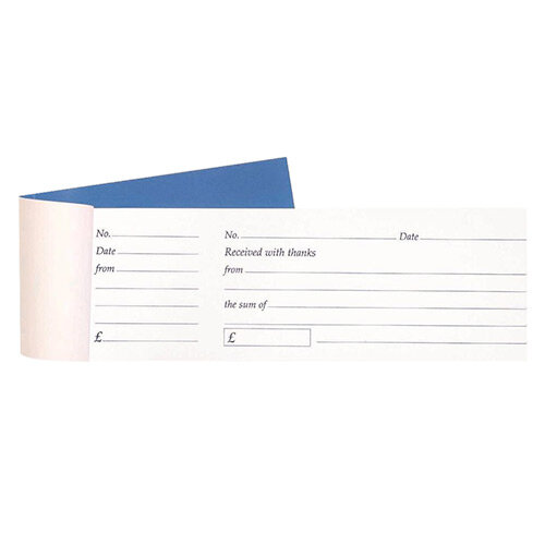 Cash Receipt Book Tear Off 80 Receipts 79x202mm