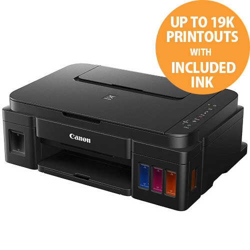 Canon Pixma G3501 All-in-One Wireless Printer - A4 (216 x 297mm) Size - Print, Copy, Scan - WiFi - Refillable Ink Tank - 7000 Colour, 12000 Black Printouts