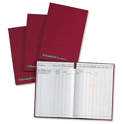 Guildhall Headliner Account Book 48 Series 21 Cash Column 48/21Z