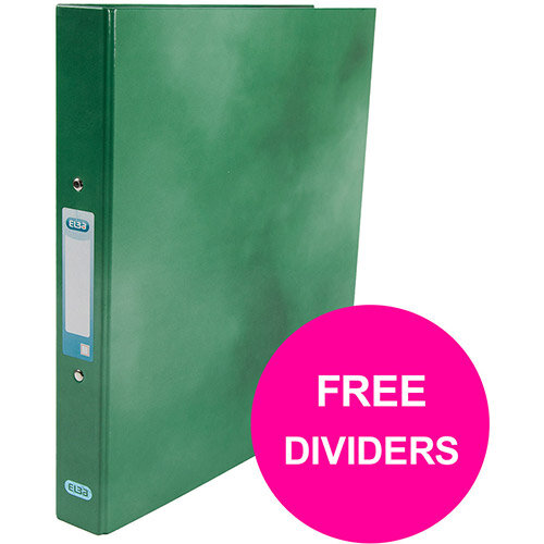 Elba Classy Ring Binder 25mm Cap A4+ Green Ref 400017756 XX1220 (FREE Dividers) Jan 12/20)