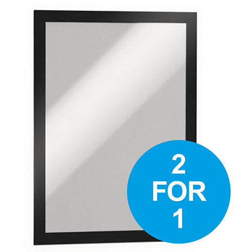 Durable Duraframe A4 Self Adhesive with Magnetic Frame Black Ref 487201 Pack of 2 (2 for 1) Oct-Dec 2019