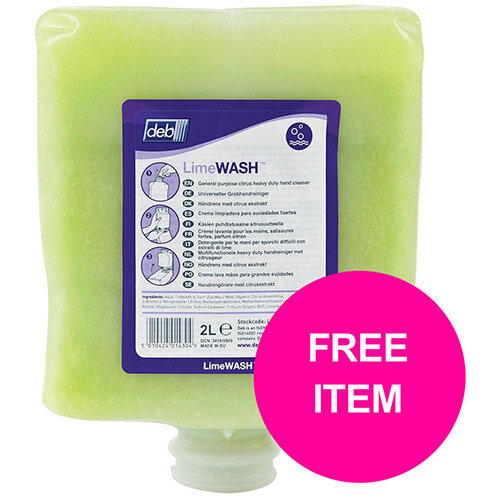 DEB Limewash Hand Soap Refill Cartridge 2 Litre Ref N03831&OC Disp (Free Dispenser)