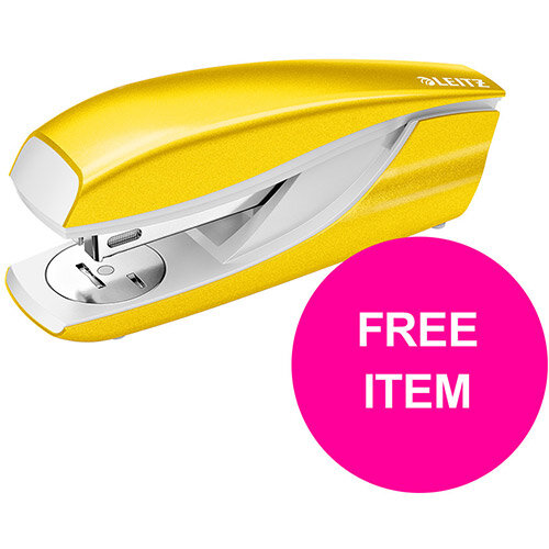 Leitz NeXXt 30 Sheet Stapler Yellow Ref 55021016 (FREE Leitz NeXXt Hole Pnch 30 Sh Yellow) Jan-Mar 20