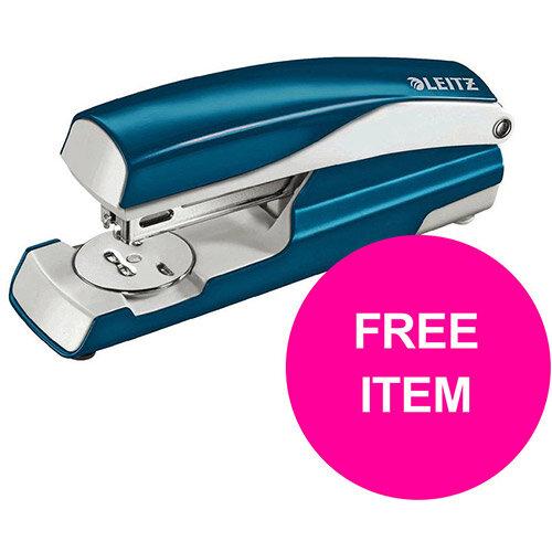 Leitz NeXXt 30 Sheet Stapler Blue Ref 55021036 (FREE Leitz NeXXt Hole Pnch 30 Sh Blue) Jan-Mar 20
