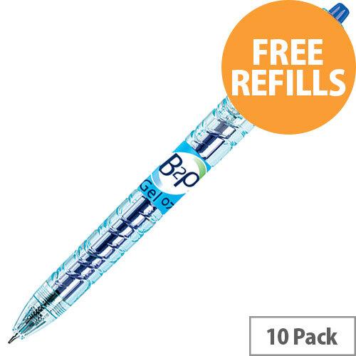 Pilot B2P Gel Rollerball 0.7mm Blue Ref 4902505377464 Pack of 10 (FREE Refills) Jan-Mar 2020