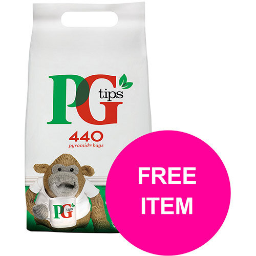 PG Tips Tea Bags Pyramid Ref 67395657 (Pk 440) (Buy 2 Get Free Haribo Giant Strawbs Bag 180g) Jan-Mar 20