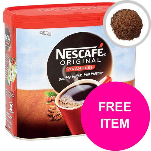 Nescafe Original Coffee Granules Tin 750g Ref 12315566 (Buy 2 Get Kit Kat Senses Chocs 200g) Jan-Mar 2020