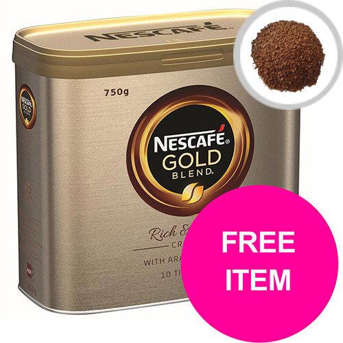 Nescafe Gold Blend Instant Coffee Tin 750g Ref 12339209 (Buy 2 Get Kit Kat Senses Chocs 200g) Jan-Mar 20