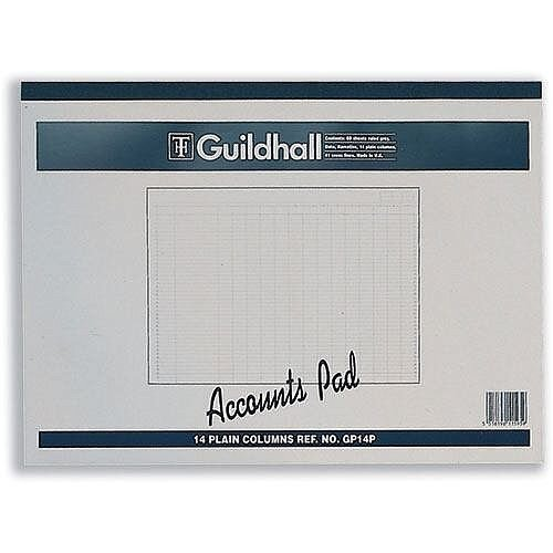 Guildhall Account Pad 14 Cash Column Ruled 41 Feint 60 Leaf 298x406mm GP14