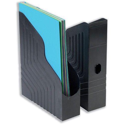 Magazine Racks File A4 Black Pack 6 Avery Mainline