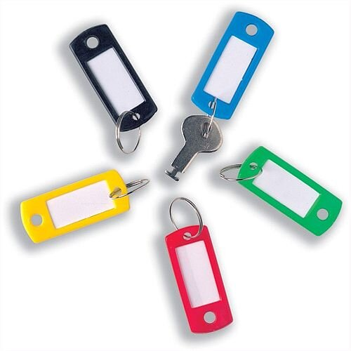 Key Hanger Standard with Fob Assorted [Pack 100]