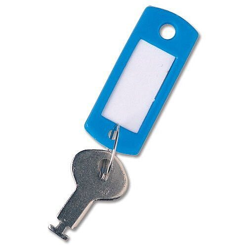Key Hanger Standard with Fob Blue [Pack 100]